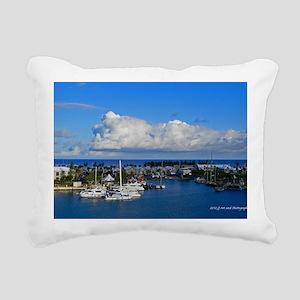 Royal Naval Dockyard Rectangular Canvas Pillow