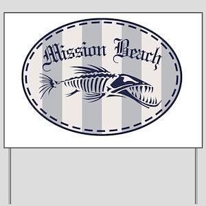 Mission Beach Bonefish Yard Sign