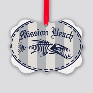 Mission Beach Bonefish Picture Ornament