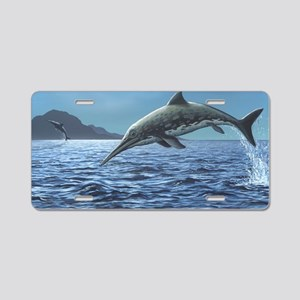 Ichthyosaurs leaping in the Aluminum License Plate