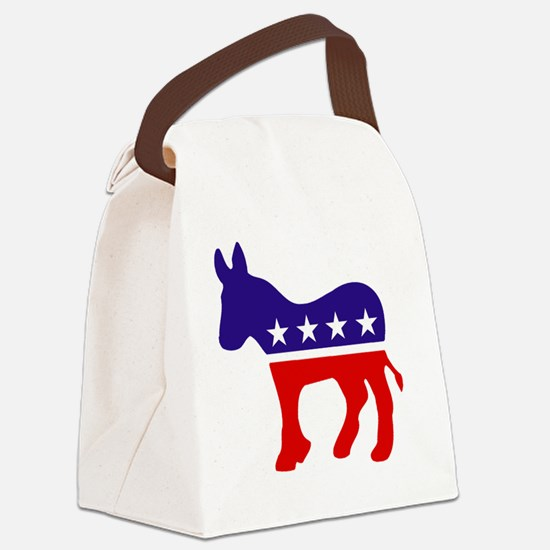 Democrat Donkey Canvas Lunch Bag