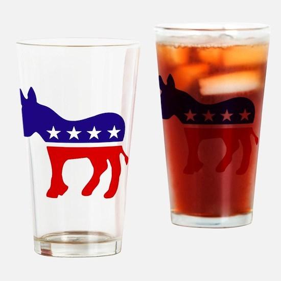 Democrat Donkey Drinking Glass