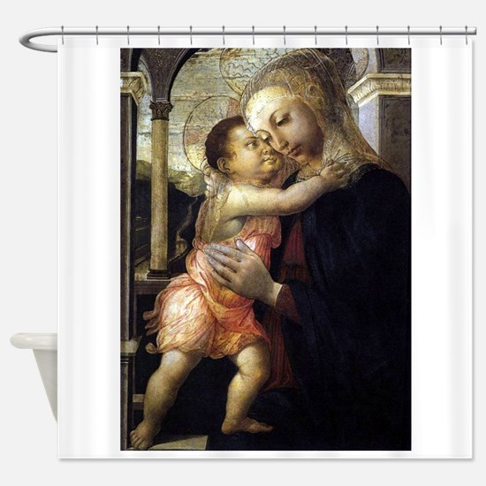 Madonna and Child - Botticelli Shower Curtain