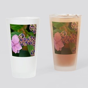 Lacecap Hydrangea Drinking Glass