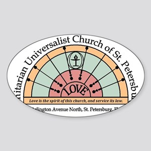 UU St Pete Church Logo Sticker (Oval)