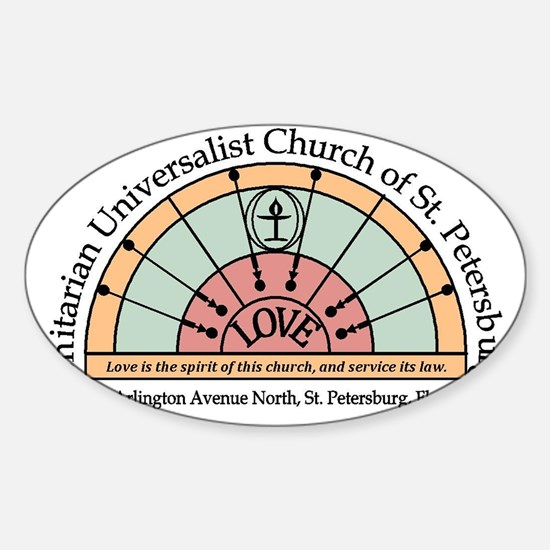 UU St Pete Church Logo Sticker (Oval)
