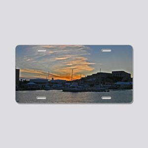 Sunset Royal Naval Dockyard Aluminum License Plate
