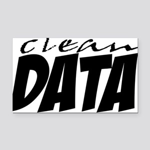 Clean Data is the Answer Rectangle Car Magnet