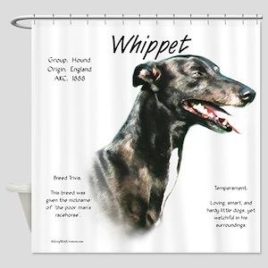 Whippet Shower Curtain