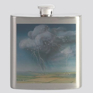 Lightning, artwork Flask