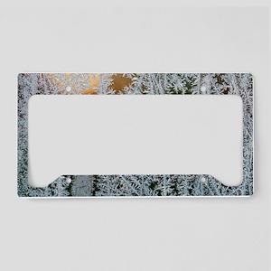 Ice patterns License Plate Holder
