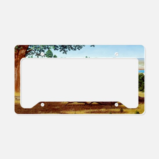 Hunting sabre-toothed cat License Plate Holder