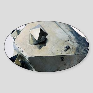 Iron pyrite crystal Sticker (Oval)