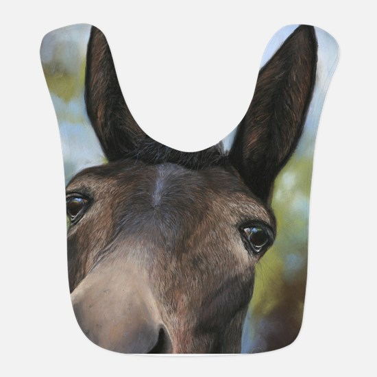 Brown Mule Art by Dawn Secord Bib