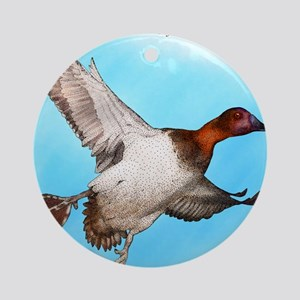 Canvasback Duck Round Ornament
