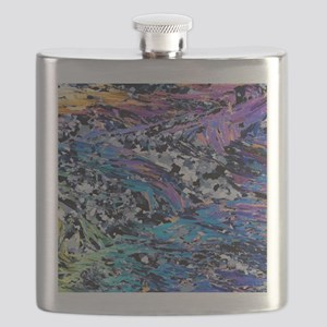 Mica schist folds, light micrograph Flask
