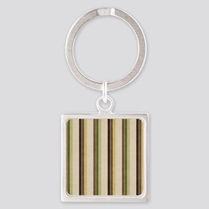Natures Stripes Square Keychain
