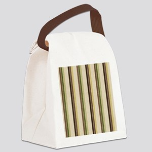 Natures Stripes Canvas Lunch Bag