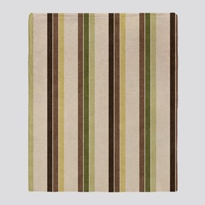 Natures Stripes Throw Blanket