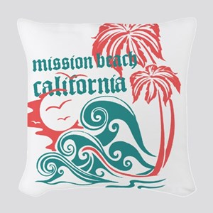 Wavefront Mission Beach Woven Throw Pillow