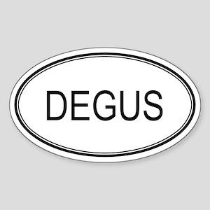 Oval Design: DEGUS Oval Sticker