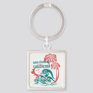 Wavefront San Clemente Square Keychain