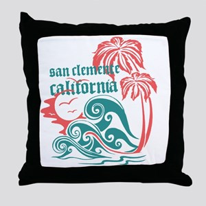Wavefront San Clemente Throw Pillow