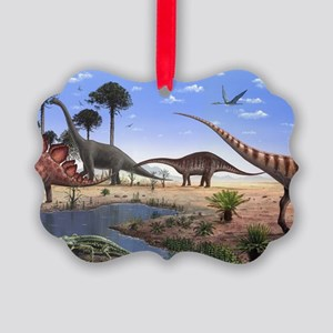 Jurassic dinosaurs Picture Ornament
