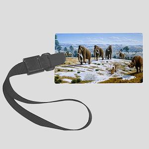 Mammals of the Pleistocene era Large Luggage Tag
