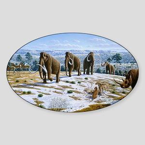Mammals of the Pleistocene era Sticker (Oval)