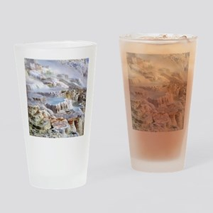 Mammoth Hot Springs mineral terrace Drinking Glass