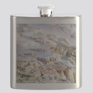 Mammoth Hot Springs mineral terrace Flask