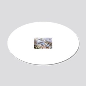 Mammoth Hot Springs mineral  20x12 Oval Wall Decal