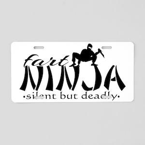 Fart Ninja Aluminum License Plate