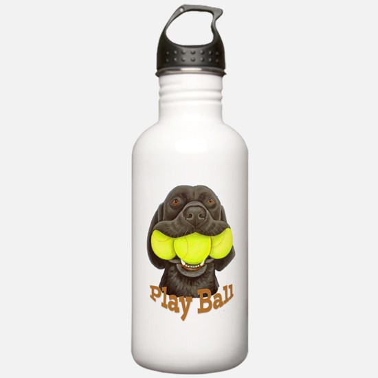 Play Ball, Labrador wi Water Bottle
