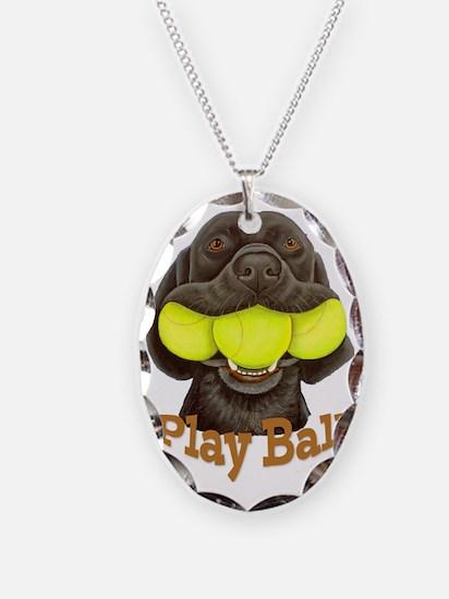 Play Ball, Labrador with Tenni Necklace