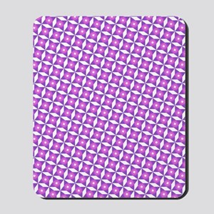 Pink And White Pattern Mousepad
