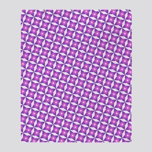 Pink And White Pattern Throw Blanket
