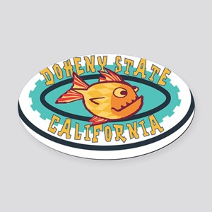 Doheny State Gearfish Patch Oval Car Magnet
