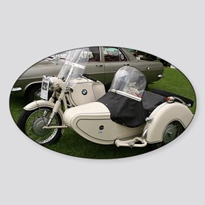 BMW Motorcycle with Sidecar Sticker (Oval)