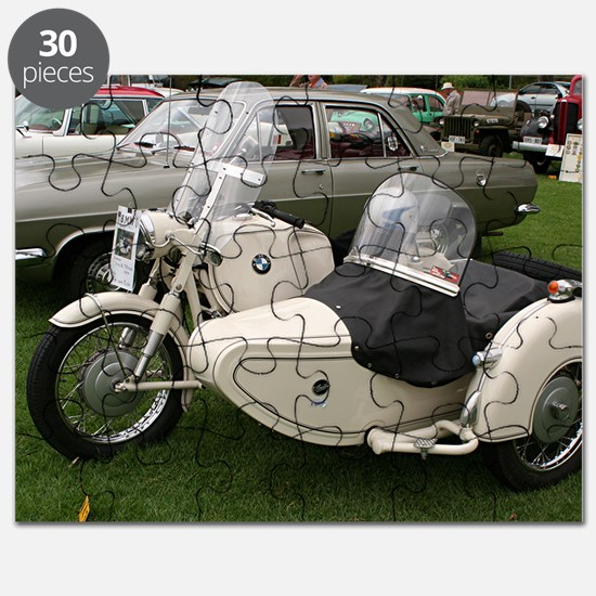 BMW Motorcycle with Sidecar Puzzle