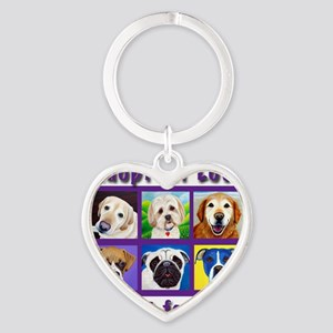 Adopt for Love, Adopt for Life Heart Keychain