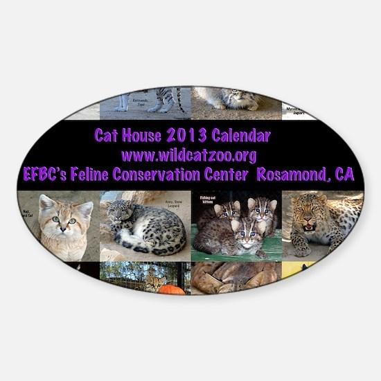 2013 Calendar Cover Sticker (Oval)