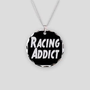 Racing addict Necklace Circle Charm