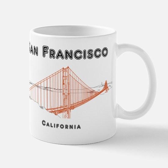 SF_10x10_GoldenGateBridge_Design3_Brown Mug