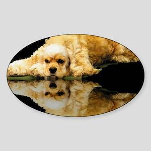 Cocker Reflection Sticker (Oval)