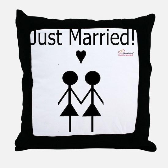 Lesbian Marriage Throw Pillow