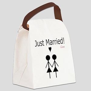 Lesbian Marriage Canvas Lunch Bag