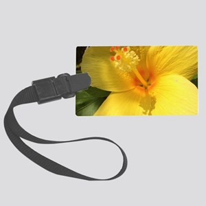 Hibiscus Flowers in a shiny day  Large Luggage Tag