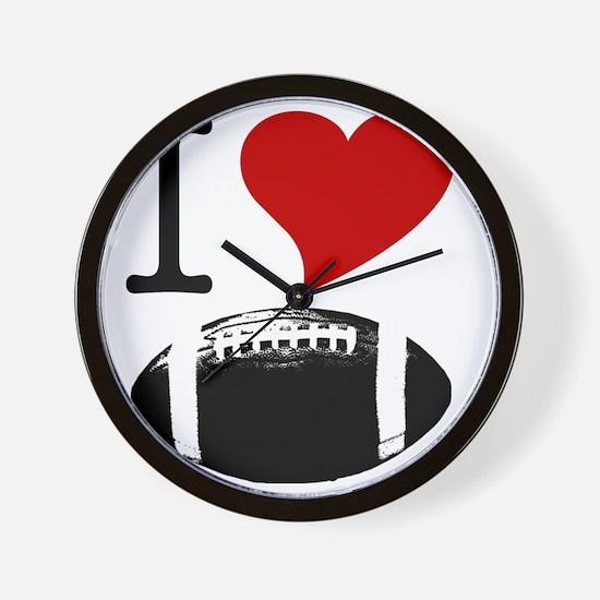 I Heart Football Wall Clock